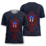 Ligerking™ Puerto Rico - Navi Blue Flag Shirt 02137