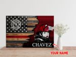 Ligerking™ FireFighter Poster Custom Name HD04203