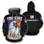 Ligerking™ Eagle Usa 3D Hoodie HD02830