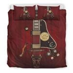 Ligerking™ New! Red Electric Guitar Bedding Set HD03992