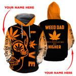 Ligerking™ 420 Hoodie Weed Dad 3D all over print HD00882