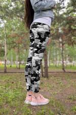 Black Camo Mushroom Leggings 3918