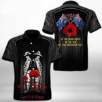 Ligerking™ Anzac Day Poppy Lest We Forget Short Sleeve Shirt HD03557