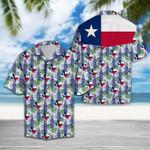 Ligerking™ Texas Bluebonnet Flag Short Sleeve Shirt HD03762