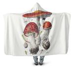 Edible Mushroom  Hooded Blanket 3904