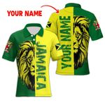 Ligerking™ Jamaica Lion Polo T-shirt HD03603