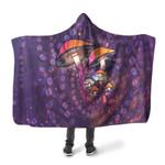 Purple Mushroom Hooded Blaket 3915