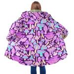 Nighttime Mushroom Hunt Repeatable pattern Hooded Coat 3910