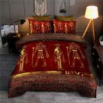 Golden Egyptian Gods And Hieroglyphics Bedding Set HD03171
