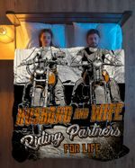 Ligerking™ Husband And Wife Riding Partners For Life Quilt Blanket HD04627