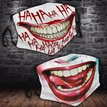 Ligerking™ Joker - Harley Quinn Cloth Face Coverings - Haloween Crazy Smile