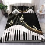 Ligerking™ Piano Key And Music Notes Bedding Set HD04003