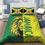 Ligerking™ Jamaica Lion Flag Quilt Bedding Set HD02877
