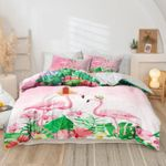 Ligerking™ Flamingo 3D Bedding set HD03105