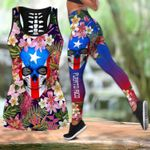 Puerto Rico Floral Skull Combo Outfit 02786