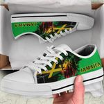 Ligerking™ Jamaica - Jamaican Lion Low Top Shoes White HD02525