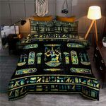 Egyptian Gold And Blue Marble Ornament Bedding Set HD03164