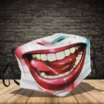 Ligerking™ harley quinn Cloth Face Coverings - Haloween Crazy Smile