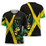 Ligerking™ Jamaica Lion Flag Personalized Name T-shirt HD02890