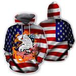 Ligerking™ Eagle Usa Flag 3D Hoodie HD02783