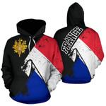Ligerking™ France Special Grunge Flag Pullover Hoodie HD02671