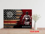 Ligerking™ FireFighter Poster Custom Name HD04209