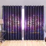 Butterfly Blackout Thermal Grommet Window Curtains HD02449