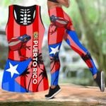 Ligerking™ Puerto Rico Tank top, Leggings 02864