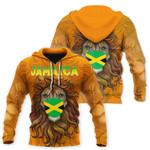 Ligerking™ Jamaica Lion Flag Hoodie HD03211