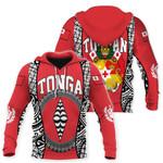 Tonga Hoodie - Polynesia Lauhala Tokelau Feletoa Coat Of Arms HD02845