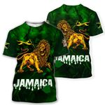 Ligerking™ Jamaica Lion Personalized Name T-shirt HD02922