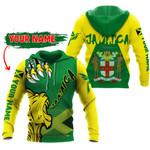 Ligerking™ Jamaica - Lion Roar Jamaica Hoodie HD02649