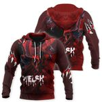 Welsh Hoodie Pullover - Welsh Red Dragon Breaking Out HD02771
