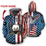 Ligerking™ Eagle Usa Flag 3D Hoodie HD02652