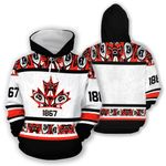 Canada Red Flag Hoodie 02606