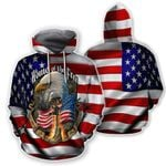 Ligerking™ Eagle Usa Flag 3D Hoodie HD02548