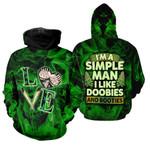 Ligerking™ 420 Hoodie Simple Man 3D all over print HD02900