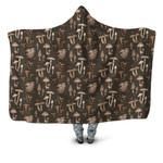 Forest Mushroom Hooded Blanket 3909