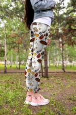Color Edible Mushroom Leggings 3907