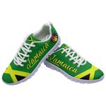 Ligerking™ Jamaica Flag Sport Sneakers White HD03347