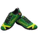 Ligerking™ Jamaica Flag Sport Sneakers Black HD03347