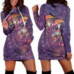 Purple Mushroom Hoodie Dress 3915