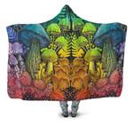 Forest Mushroom Hooded Blanket 3906