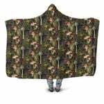 Forest Mushroom Hooded Blanket 3913