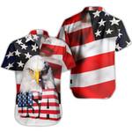 Ligerking™ Eagle Usa Flag Shirt Short Sleeve HD03379