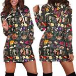 Edible Mushroom Hoodie Dress 3905
