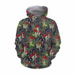 Forest Mushroom Red Hoodie 3916