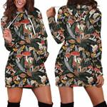 Animal & Forest Mushroom Hoodie Dress 3914