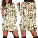 Edible Mushrooms Champignons Hoodie Dress 3902