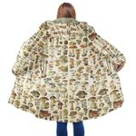 Edible Mushrooms Champignons Hooded Coat 3902